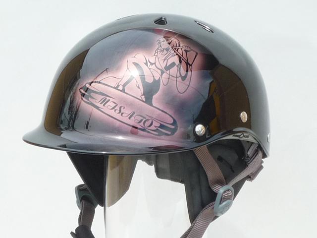 ウェイクボードヘルメットをペイント | サードアイ カスタムペイント&デザイン
